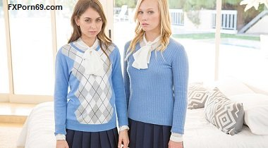 BLACKED Two Teen Girls Share a Huge BBC with Riley Reid, Dakota James & Rob Piper
