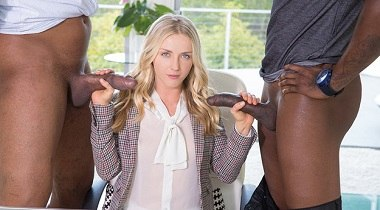 Blacked - Perfect Blonde With 2 Monster Black Cocks with Karla Kush, Flash Brown & Jovan Jordan