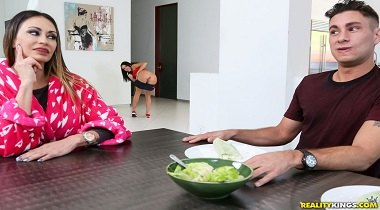 Realitykings - Sneaky Sex Lunch Served Raw with Brad Knight & Megan Rain 380x210