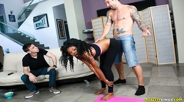 Realitykings - Round and Brown - Naked Yoga with Alex Legend & Lala Camile 380x210