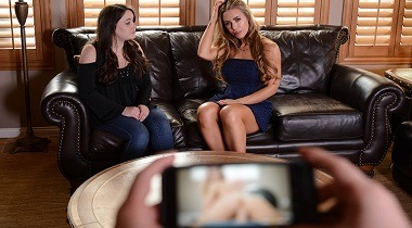 Brazzers XXX - There's A Pornstar In My House with Nicole Aniston & Jessy Jones by Pornstars Like It Big 380x210