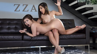 Brazzers Lesbian - Our Sorority Sucks with Abella Danger & JoJo Kiss by Hot And Mean 380x210