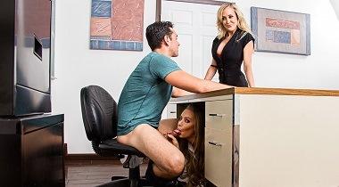 Naughtyamerica hd - My First Sex Teacher Brandi Love , Nicole Aniston & Ryan Driller 380x210