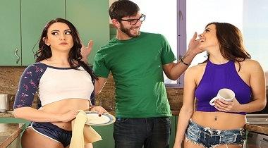 Bangbros porn - Step-Sister's Play Tug of War With Boyfriend with Keisha Grey & Mandy Muse - Ass Parade 380x210