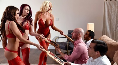 Brazzers HD - 1 800 Phone Sex Line 8 with Madison Ivy, Monique Alexander, Nicolette Shea & Johnny Sins 380x210