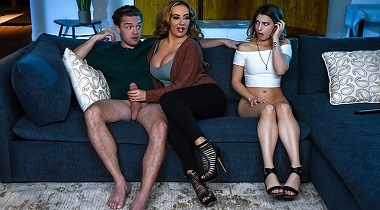 Brazzers.com - Mind If Stepmom Joins You with Kristen Scott, Richelle Ryan & Kyle Mason - Moms In Control 380x210