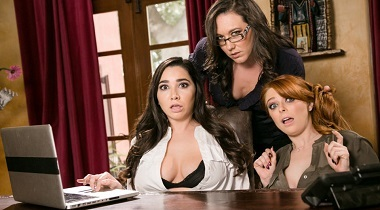Girlsway HD - Lady Boss Caught At The Office with Penny Pax, Karlee Grey & Sinn Sage