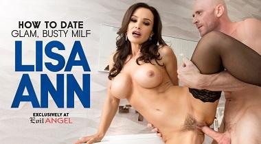 EvilAngel HD - How To Date Glam, Busty Milf Lisa Ann & Johnny Sins 380x210