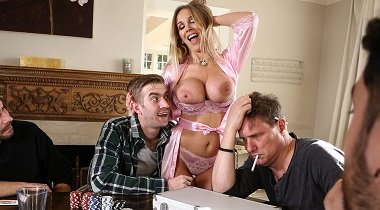 Brazzers hd - Poker Face Rebecca More & Danny D - Real Wife Stories 380x210