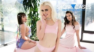 Girlsway - Showcases Chloe Cherry - 2 Scenes In 1 with Jenna Sativa, Georgia Jones & Chloe Cherry 380x210