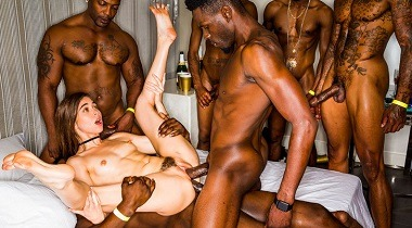 Blackedraw - Girlfriend Gangbang At The After Party Riley Reid, Jason Luv, Jax Slayher, Jason Brown & Nat Turnher 380x210