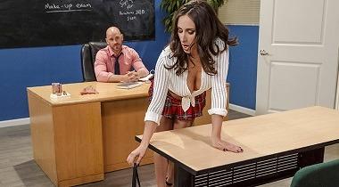 Brazzers 720p - Make-Up Sexam by Ashley Adams & Johnny Sins - Big Tits At School 380x210