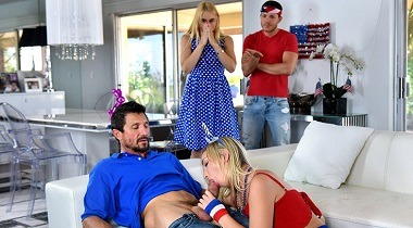 Familystrokes - I Pledge Allegiance To My Father Figures Cock with Sarah Vandella And Zoey Parker 380x210