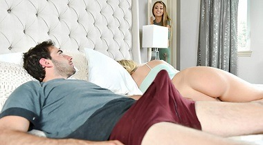 Teamskeet - Badmilfs - Stop Looking At Stepmoms Ass! by Bailey Brooke and Natasha Starr 380x210