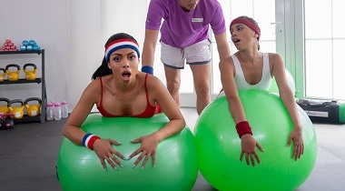 Fitnessrooms.com - Threesome with sexy Latina booty by Baby Nicols & Canela Skin 380x210