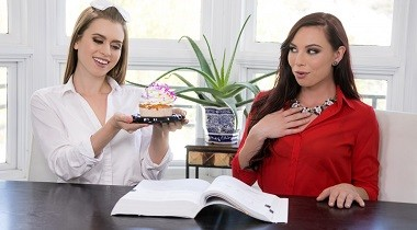 Girlsway - Too Hot For Teacher Birthday Surprise by Aidra Fox & Jill Kassidy 380x210