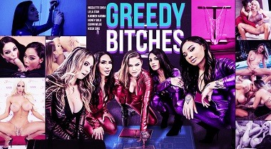 Digitalpayground - Greedy Bitches by Karmen Karma, Lela Star, Honey Gold, Kissa Sins, Quinn Wilde & Nicolette Shea 380x210