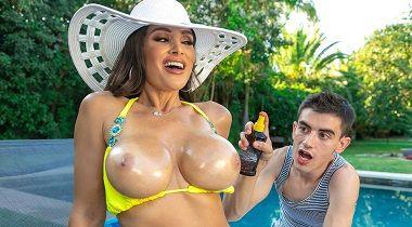 Brazzers.com - Milfs Like It Big - Lisa's Pool Boy Toy with Lisa Ann & Jordi El Niño Polla 380x210