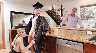 Familystrokes - Cap And Gown Dick Down with Kenzie Taylor 380x210